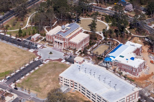 Alpharetta Courthouse n Park March Aerial 2015